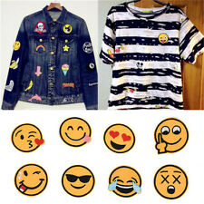 8X Funny  Face Applique ricamata Sew Iron on Patch