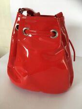 Monkl Small Ladies Womens Designer Red Patent Bucket Shoulder Evening Bag