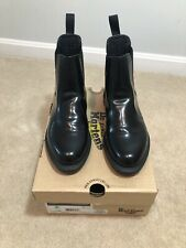 DR. MARTENS WOMENS FLORA SMOOTH BLACK LEATHER CHELSEA BOOTS NEW! US 9 UK 7