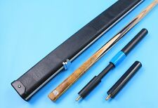 "57-1/4"" 9.4mm 18.2oz One 1 Piece Handmade Snooker Pool Burl Cue n Crocodile Case"