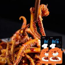 2 packs Chinese Delicious BBQ Squid Hot Spicy Strips Snack Food Free Shipping