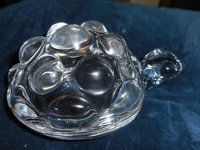 A BELGIAN  VAL ST LAMBERT GLASS  TURTLE ACCESSORY BOX (BONBONNIERE TORTUE)