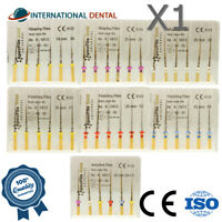 Endodontics Dental NiTi Gold Coated Rotary Files 25mm Root Canal Reamers Endo