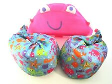Swimschool Pink & Blue Crab Float Aid Child 30-50 LBS