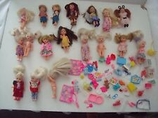 18 KELLY DOLLS - BARBIE'S LITTLE SISTER & FRIENDS, TOMMY & ACCESSORIES & OUTFITS