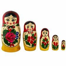 russische Matroschka Babuschka Holzpuppe Russin 9 Puppen