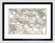 Vintage World Map Framed Decorative Posters & Prints