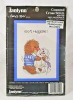Janlynn Counted Cross Stitch Kit 100% Huggable Suzy's Zoo Hedgehog bunny