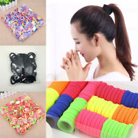 50/100Pcs Women Girls Hair Band Ties Rope Ring Elastic Hairband Ponytail Holder