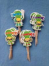 Cupcake Cake Toppers TMNT Teenage Mutant Ninja Turtles 24pcs