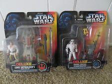 Star Wars Deluxe Crowd Control Stormtrooper & Luke Skywalker Action Figures