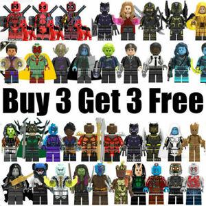 █ Buy 2 Get 1 Free █ - Marvel Deadpool Captain America Thor Custom MiniFigure