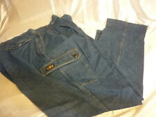 TIGER SQUADRON VINTAGE JEANS USA MADE 100% COTTON 52X30 DEADSTOCK