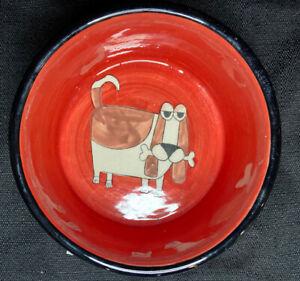 Signature Housewares Ursula Dodge MY FAVORITE THINGS Dog Food Water Bowl Dish