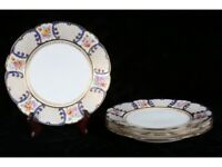 Antique Limoges Porcelain TRESSEMANES & VOGT Salad Plates, Set of Four