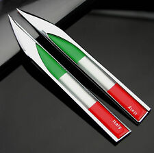 2X Car Metal Knife Badge Emblem Decal Sticker Italy Italia Flag Decoration Gift
