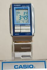 Casio LA201W-2A Ladies Blue FUTURIST Watch Stainless Steel LCD Dual Time New
