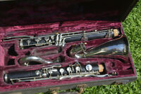 BARKLEE ARTIST PROFESSIONAL WOOD BASS CLARINET,OVERHAULED,READY TO PLAY/CLARINO