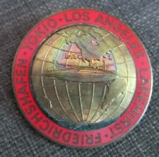 1929 German Graf Zeppelin Lakehurst, Friedrichshafen, Tokio, LA Tour Badge
