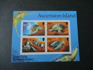 Ascension 1994 Green Turtles MS MS628 MNH UM unmounted mint
