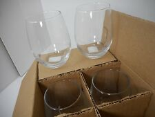 Cacht Perfection Stemless Wine Glass Set of 6, 15 oz, Clear