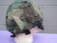 Army issue, rare MSA Reversible Helmet Cover & camo face net (LOC = H-3)