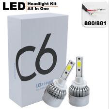 880/881/H27 72W 7600LM LED Headlight Kit All In One C6 Bulbs Light 6000K White