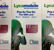 LYCAMOBILE SIM CARD 1P Calls International Standard/Micro/Nano Pay As You Go