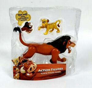 Disney Lion King Action Figures Scar and Young Simba