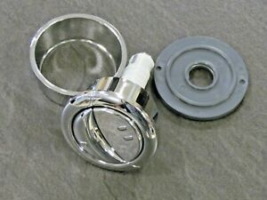 FLUSH BUTTON WIRQUIN JOLLYFLUSH GREY NUT CABLE OPERATED DUAL FLUSH PUSH