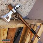 19' NATIVE AMERICAN PEACE PIPE TOMAHAWK Replica HATCHET with Functional Pipe