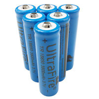 6 X 18650 3800mah Li-ion 3.7V Rechargeable Battery For Flashlight Torch LED