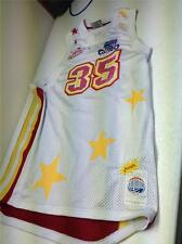 Distressed Platinum Fubu Harlem Globetrotter Number 35 Hoop Jersey Size 2Xl
