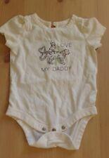 Baby Gap Bodysuit SNOW LEOPARD Girls 0 to 3 Months I LOVE MY DADDY Tee Newborn