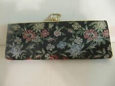 Vintage Eyeglasses Spectacles Case Tapestry Floral Pattern Clutch Purse Style