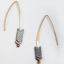 Bohemian Jewelry Geometric Arrow Natural Stone Earrings High Quality Simple