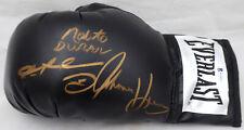 Boxing Greats Autographed Glove 3 Sigs Leonard Hearns & Duran Beckett WA90952