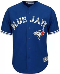 Men's XL Majestic MLB Toronto Blue Jays JERSEY SEWN BUTTON Stitched