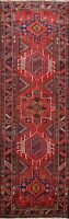 Geometric Semi-Antique Heriz Hand-knotted Runner Rug Wool Oriental 4x11 Carpet