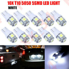 10X T10 LED Canbus 5SMD White W5W 501 Car Interior Lights Side Light XG