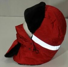Winter Trapper Trooper Bomber Hat With Face Mask Red Hunting Hats Reflective