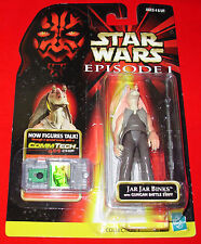Star Wars JAR JAR BINKS w/ GUNGAN BATTLE STAFF Episode I COMMTECH Chip C8 Cond.