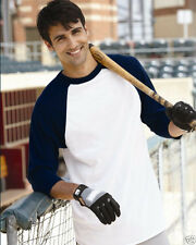NEW Augusta Sportswear - ¾ Sleeve Baseball Jersey- 420 -FREE SHIPPING