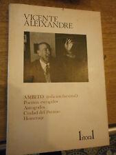 Litoral Vicente Aleixandre Ambitio edicion facimil Poemas escogidos N° 103/5