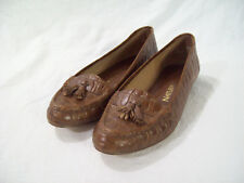 Naturalizer Oxford Pump Brown Real Leather Faux Snake Low Heel Dress Shoe sz 7D