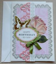 A Handmade Birthday Card With Anna Griffin Design & Supplies Butterfly Rose