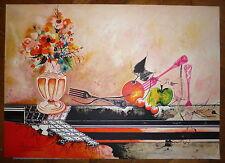 BOUCHEIX François Lithographie signée numérotée nature morte pomme