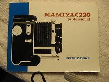 Mamiya C 220 Camera Instructions