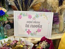 Carteles para Bodas Novia alpargatas agradecimiento mensajes bienvenidos