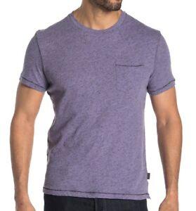 John Varvatos Star USA Men's Short Sleeve Pocket Crew T-Shirt Neppy Dry Lavender